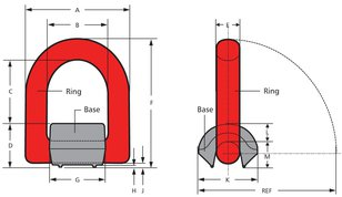 Crosby KUPLEX KWLR Weldable Lifting Ring